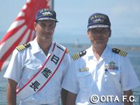 一日艦長になり、護衛艦に乗艦してきました。